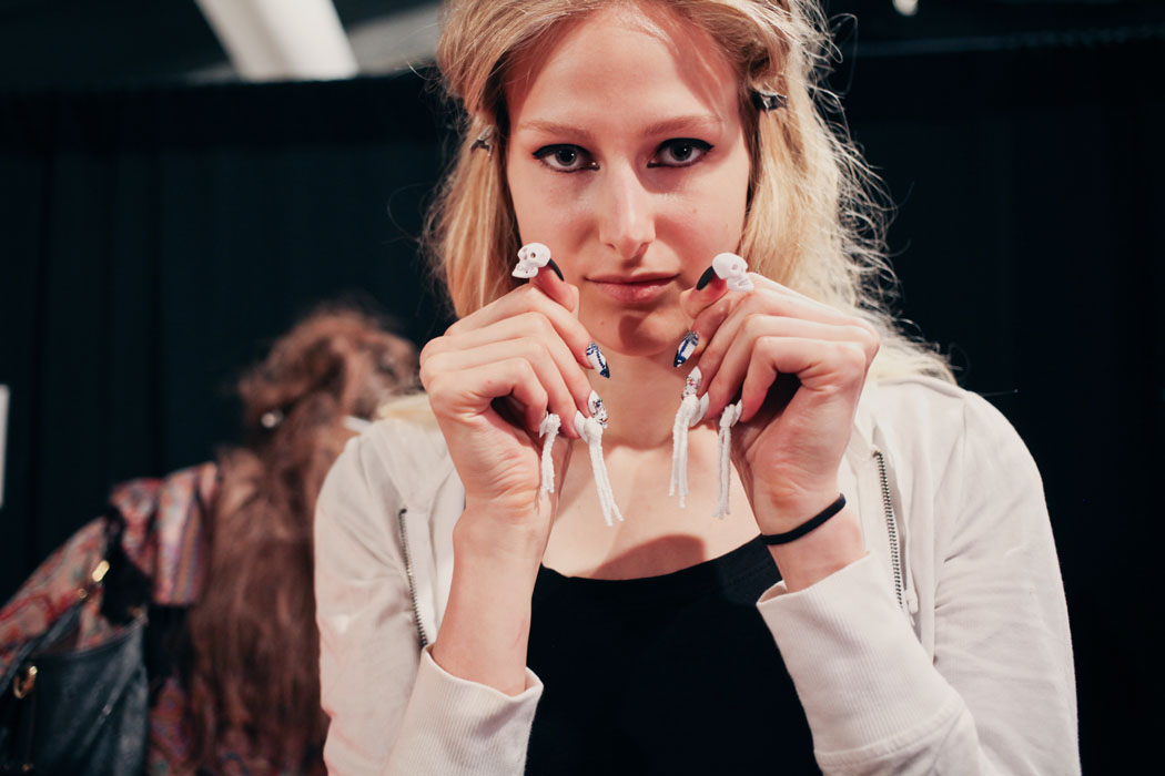 Backstage at Libertine, Nails by CND