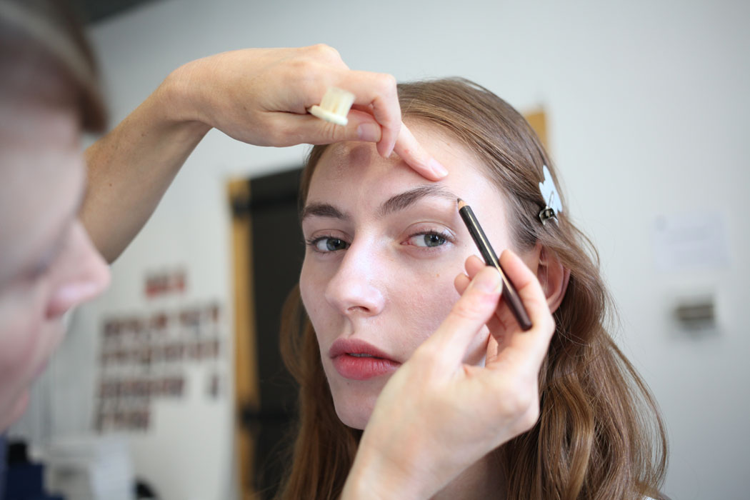 Backstage at Steven Alan SS15, Burt Bees Makeup