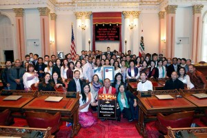 On April 16th, 2015, California's Senate unanimously passed the Senate Resolution #21 (SR-21) declaring April 13th-17th as 'Cambodian Genocide Memorial Week,' calling for all of California to recognize, remember and celebrate the resiliency of the Cambodian spirit in the face of terror and genocide.