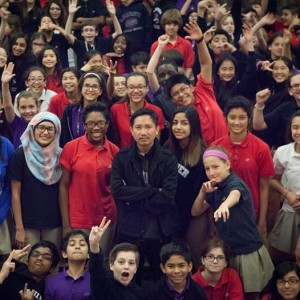 praCh after lecturing and performing for the students of Lanier Middle School in Houston