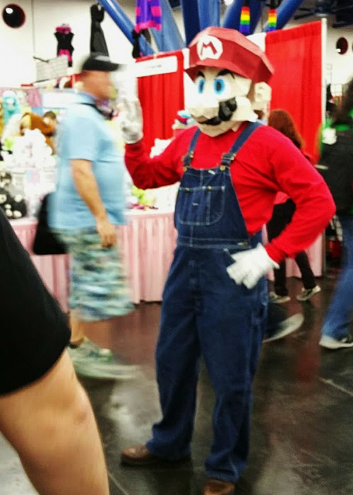 Cosplayer as Mario