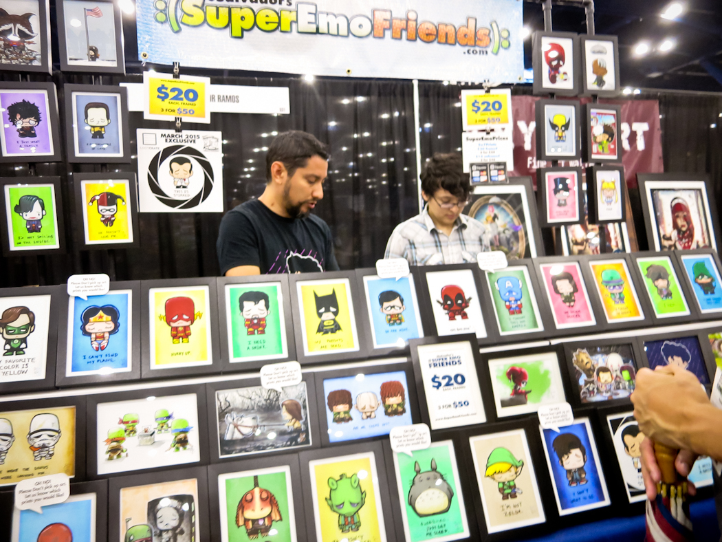 Many booths sold original comic inspired art