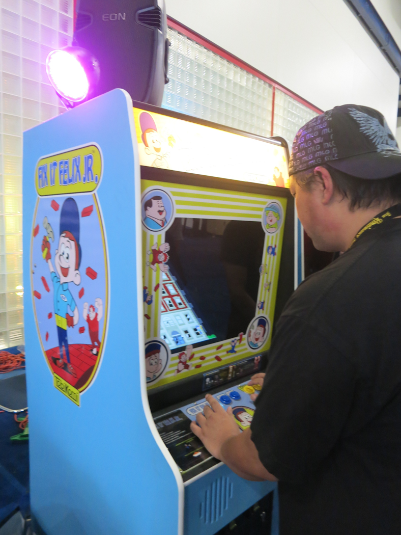 Free Retro Arcade area with Fix-It Felix