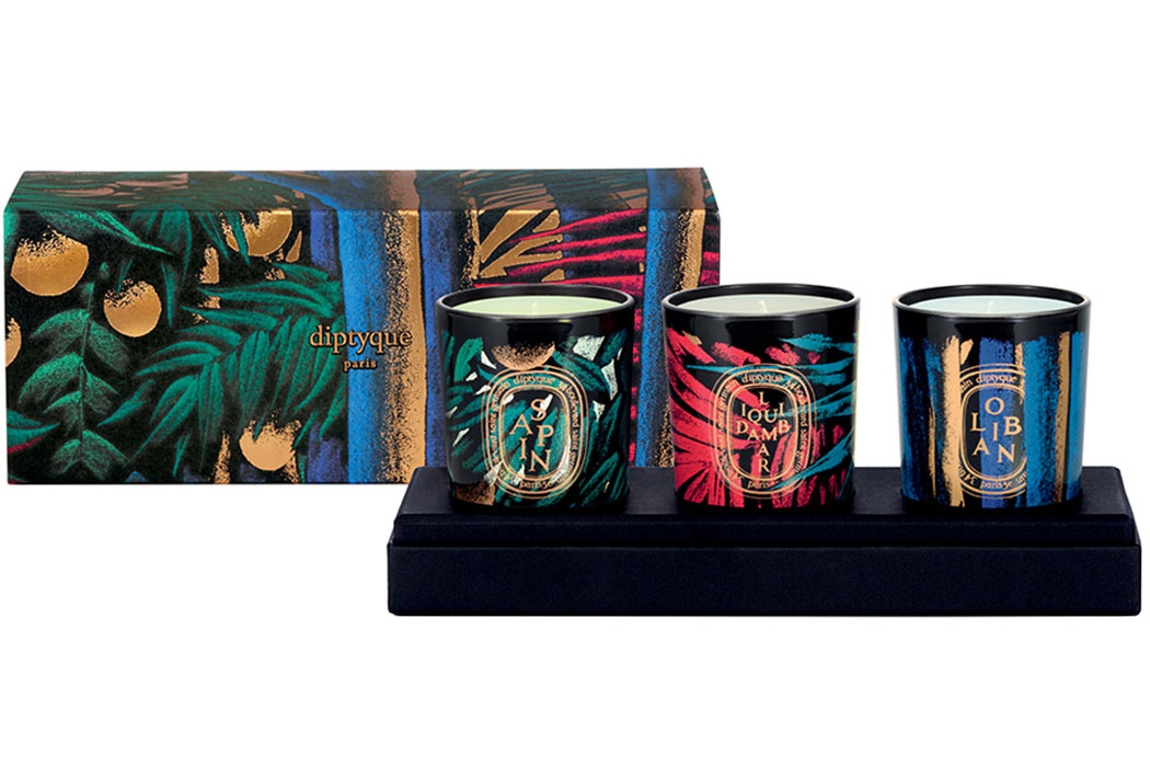 3 candle set, $100, available at DIPTYQUE