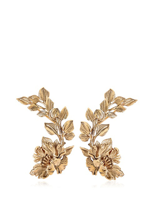 Flower garden cuff earrings, $650, available at Roberto Cavalli