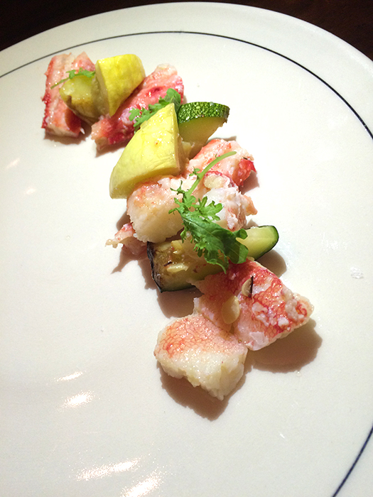 Taraba Kanpyo Alaskan King Crab and Summer Squash