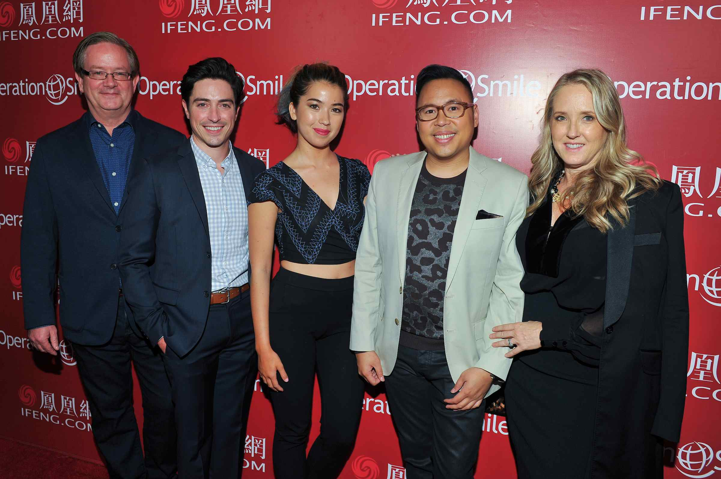 Mark McKinney, Ben Feldman, Nichole Bloom, Nico Santos  (Superstore cast)  and Jennifer Salke (Event Chairs & NBC Entertainment President.
