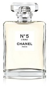 Chanel No5 L'eau A modern, fresh and vibrant embodiment of the now and forever scent. Timeless and audacious, simple and sophisticated. Sephora, $100 1.7 oz